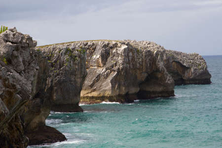 the coast of the cantabric sea in Santander