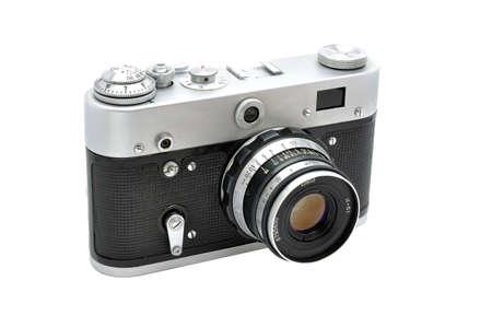 photocamera: Very old soviet vintage film photocamera.