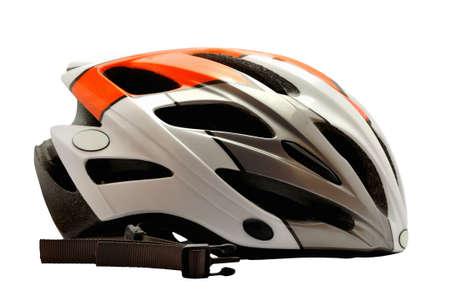 cross country: Ciclismo casco para cruzar la conducci�n del pa�s aislado en blanco
