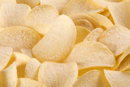 titbits: a lot of potato chips, a large depth of field Stock Photo