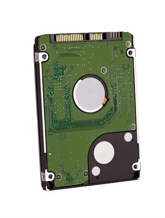 micro drive: hard disk storage medium, isolated on white