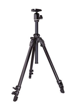 shiver: Tripod for photo video. Isolated on white Stock Photo