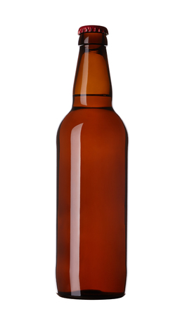 without: bottle of beer without label, isolated on white