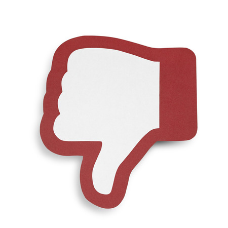 negatively: dislike symbol, negative assessment experience on the Internet Stock Photo