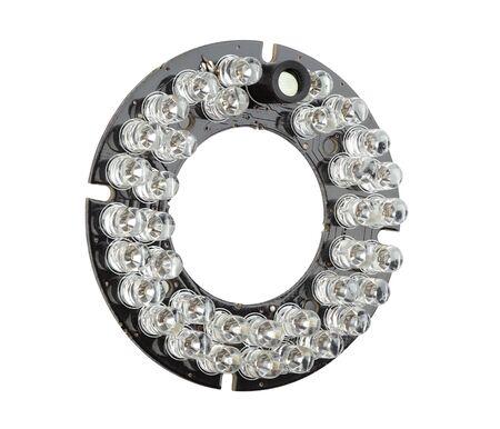 leds: LEDs infrarrojos en el tablero, piezas de repuesto para las cámaras de circuito cerrado de televisión Foto de archivo