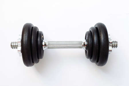 weights on white background Stock Photo