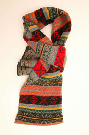 scarf for man with pattern and color, isolated