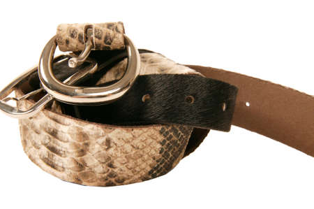 leather belt with high quality buckle