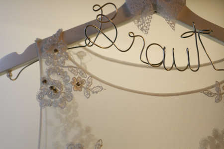 Decorative Hanger For Wedding Dress Stock Photo, Picture And Royalty ...