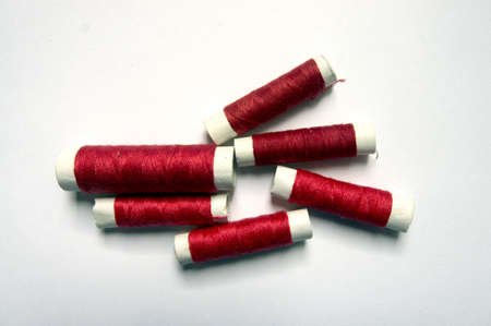 backstitch: Bobbins Collection in red