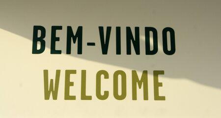 welcome sign: Signe de bienvenue