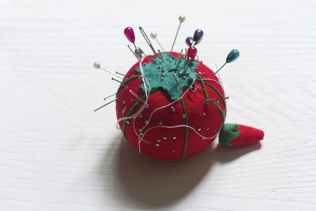 craftwork: With Tomato pincer-shaped pins, thread and needle for sewing
