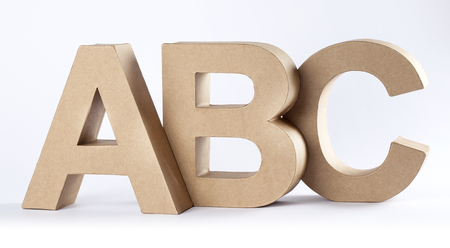 studio b: The letters ABC, made out of carton