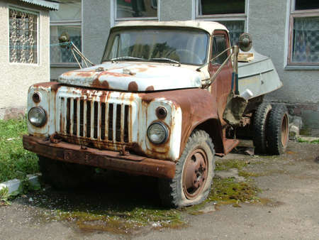 The old Soviet car won't go any more never Stock Photo - 8919802