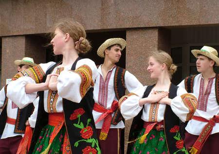 Ivano-Frankivsk, Ukraine - May 06, 2007. Festival of Ukrainian song and dance.