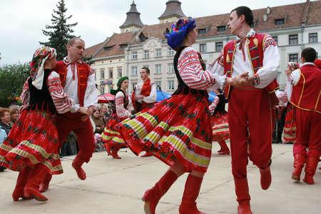 Ivano-Frankivsk, Ukraine - May 06th, 2007. Festival of Ukrainian song and dance.