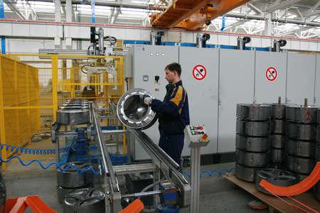 Production of washing machines photo