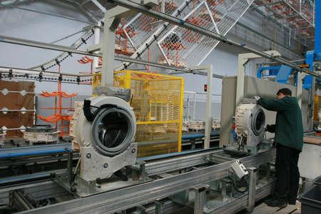 Production of washing machines Stock Photo - 14146753
