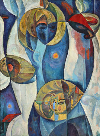 abstract paintings: The Art of abstraction Stock Photo
