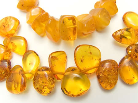 nicety: amber good-looking beautiful beads overflowing gold of eternity