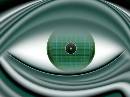 newcomer: Digital eye extraterrestrial beings in green tones