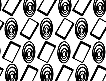 displaced: Pattern from excentric ellipses and displaced rectangle Illustration