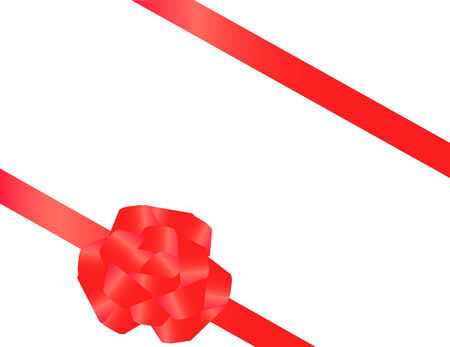 Red tape with a bow packing of a celebratory gift Vector