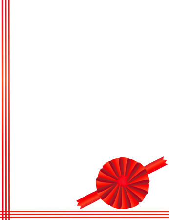 compliment: Red tape with a bow packing of a celebratory gift