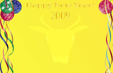 New Year abstraction. Vector illustration for design. illustration