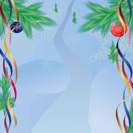 tinsel: Christmas abstraction. Vector illustration for design.