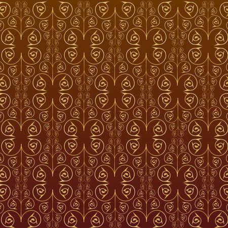 gold leafs: seamless pattern vector Stock Photo