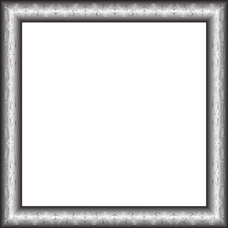 antique steel picture frame vector