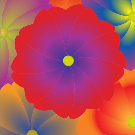 pacification: background of the big bright decorative flowers Stock Photo