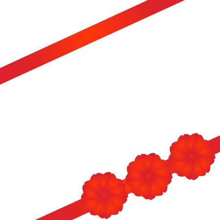 compliment: Red tape with bows packing of a celebratory gift