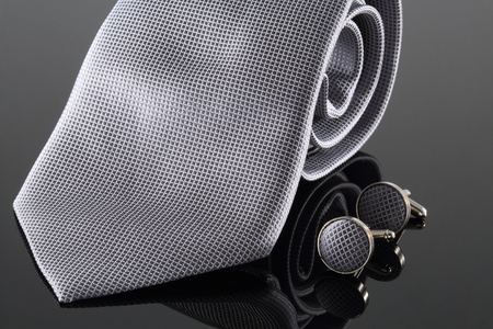 cuff: Tie with cuff links