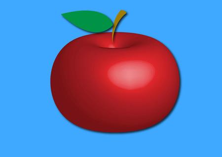 Apple three-dimensional image