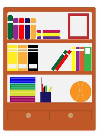 Cabinet books  photo
