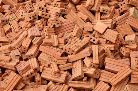 concrete block: Photo of red brick
