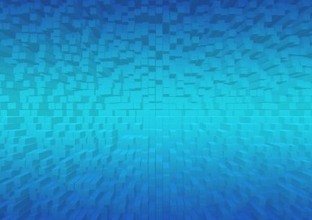 blue 3d blocks: Three-dimensional wallpaper Stock Photo