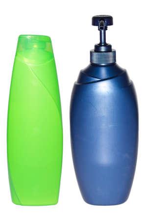 shampoo bottles: Shampoo bottles on white background.