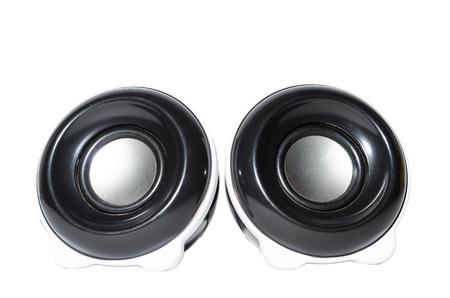 Speakers on a white background Stockfoto