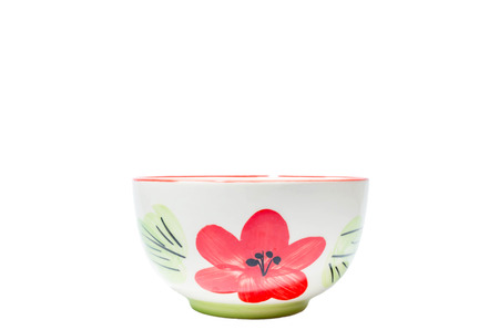 Food cup flowers on a white background.