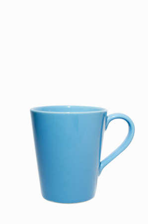 Coffee mugs blue on a white background.