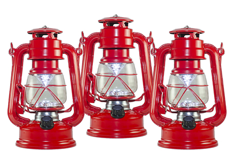 Photo of a red lantern on a white background