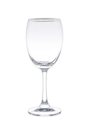 A glass of wine on a white background