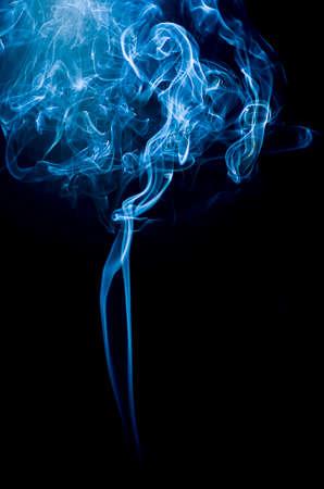 Close-up of blue smoke