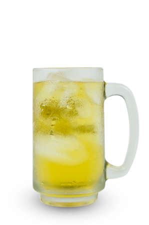 Photos of beer mugs on a white background Stockfoto