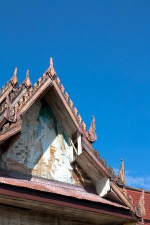 gable: thai gable Stock Photo