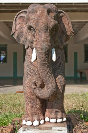 statuary garden: The statue of the elephant