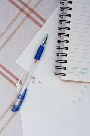 a pen on a spiral notebook. Stock Photo - 11787755